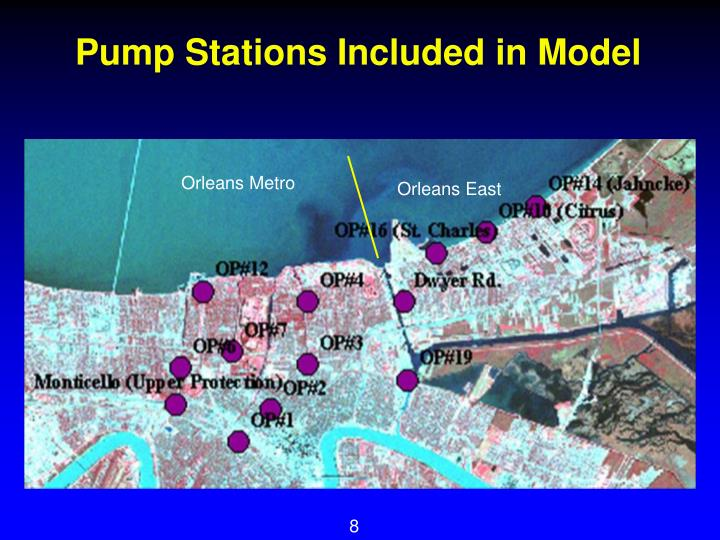 Pump Stations Included in Model