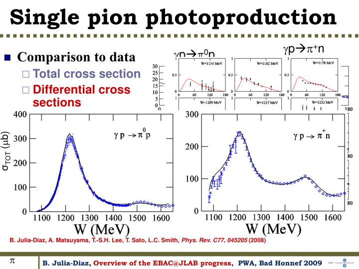 Single pion photoproduction
