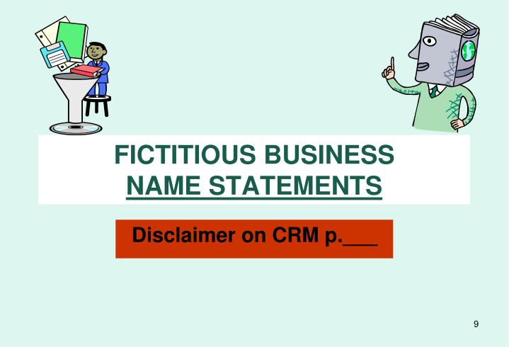 FICTITIOUS BUSINESS