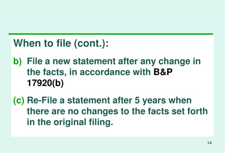 When to file (cont.):