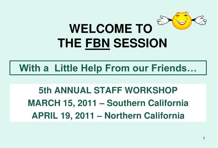 welcome to the fbn session n.
