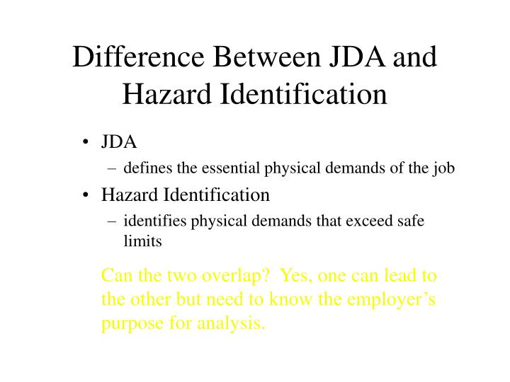 Difference Between JDA and Hazard Identification