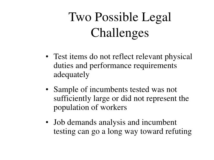 Two Possible Legal Challenges