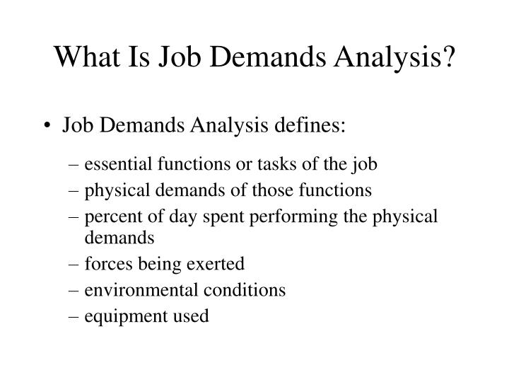 What Is Job Demands Analysis?