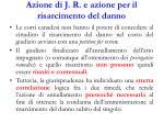 azione di j r e azione per il risarcimento del danno
