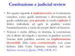 costituzione e judicial review