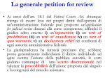 la generale petition for review