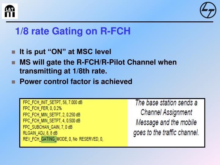 1/8 rate Gating on R-FCH