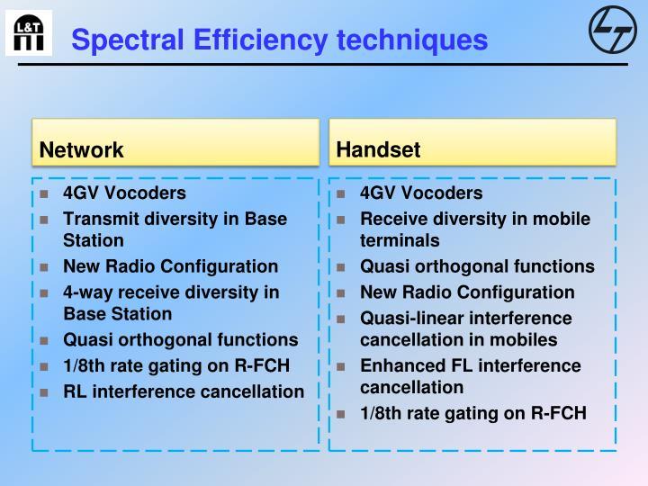 Spectral efficiency techniques