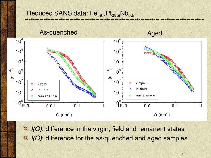Reduced SANS data: Fe