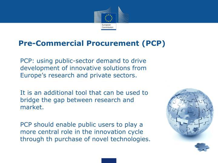 Pre-Commercial Procurement (PCP)