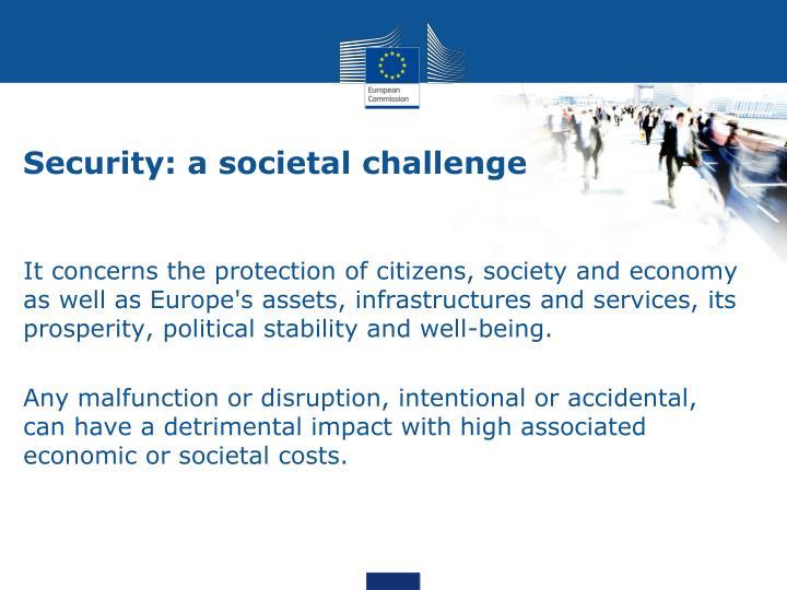 Security: a societal challenge