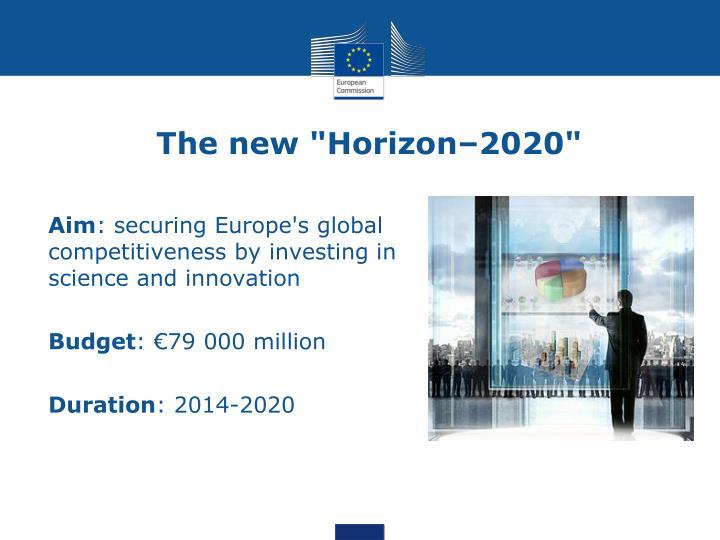 "The new ""Horizon–2020"""