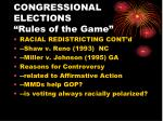 congressional elections rules of the game4