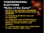 congressional elections rules of the game5