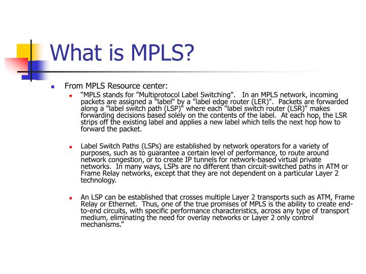 PPT - Multi-Protocol Label Switch (MPLS) PowerPoint Presentation ...