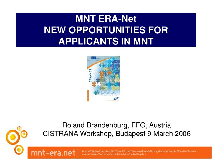 Mnt era net new opportunities for applicants in mnt