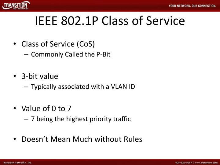 IEEE 8021P Class Of Service