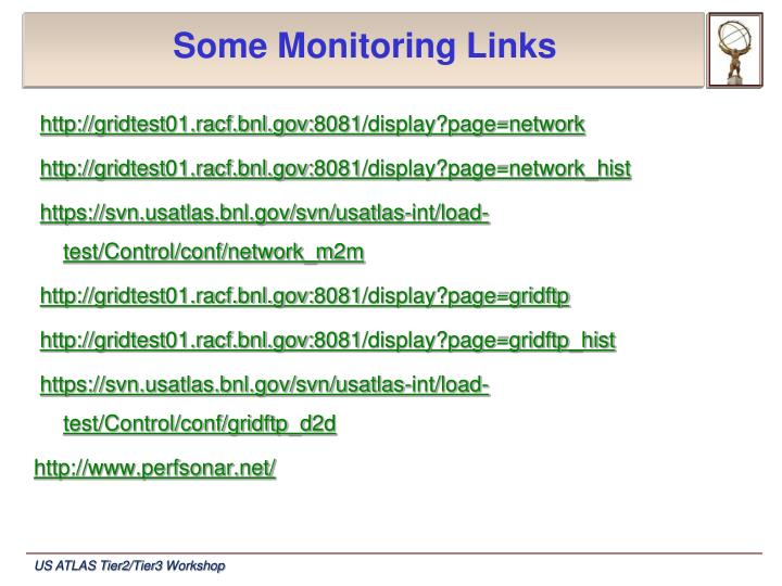 Some Monitoring Links
