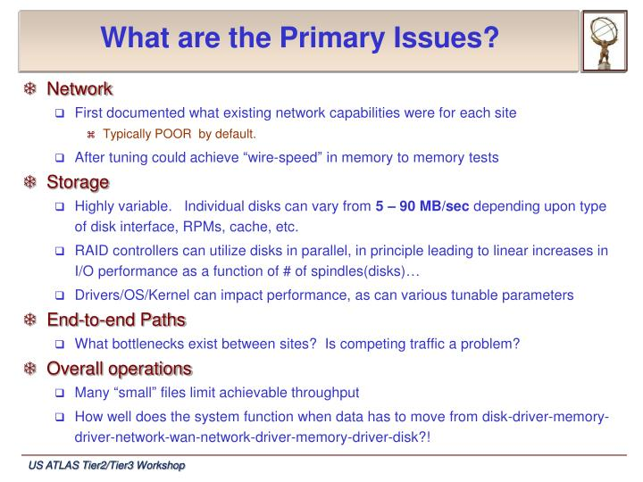 What are the Primary Issues?