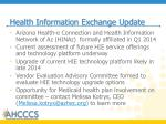 health information exchange update