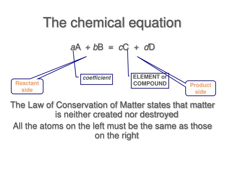 The chemical equation
