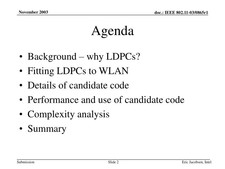 ldpc codes ppt background