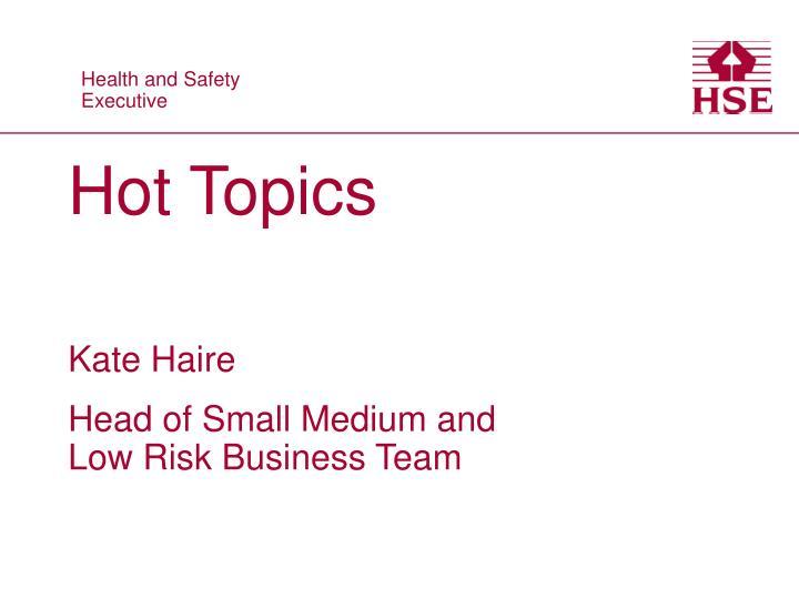 hot topics n.