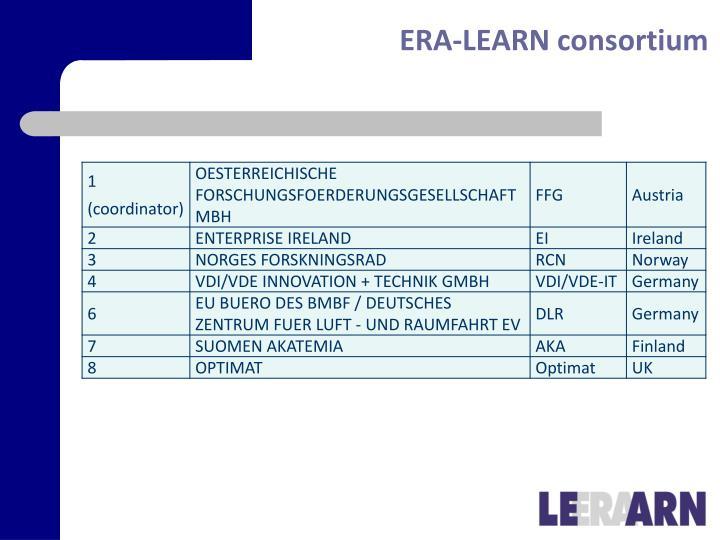 Era learn consortium