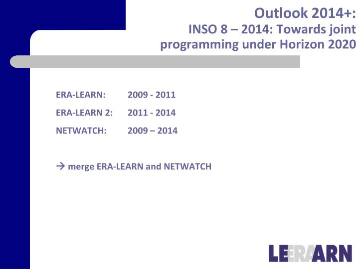 Outlook 2014+: