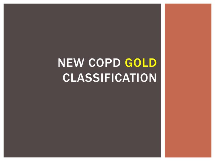 new copd gold classification n.