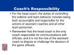 coach s responsibility