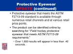protective eyewear update continued2