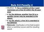 rule 9 2 penalty 4