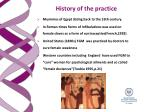 history of the practice
