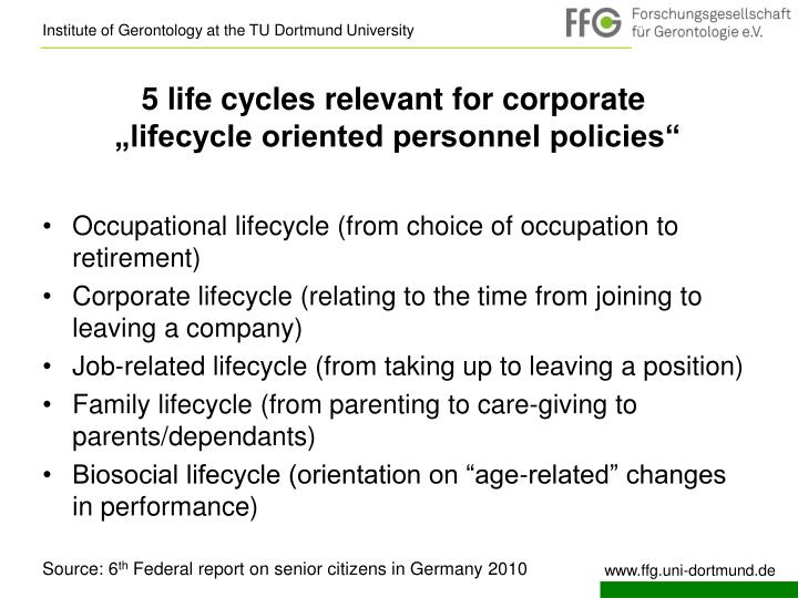 5 life cycles relevant for corporate