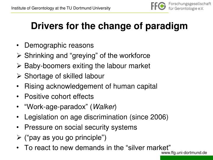 Drivers for the change of paradigm