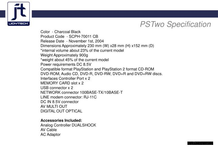 PSTwo Specification