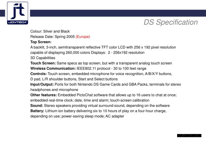 DS Specification