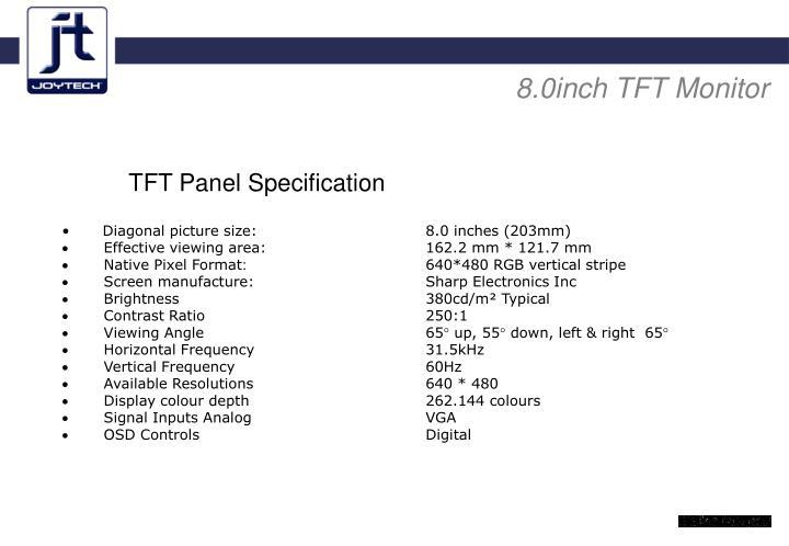 8.0inch TFT Monitor
