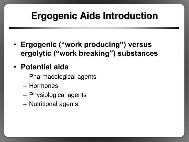 Ergogenic aids introduction