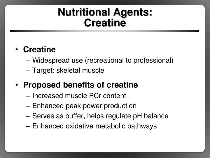 Nutritional Agents: