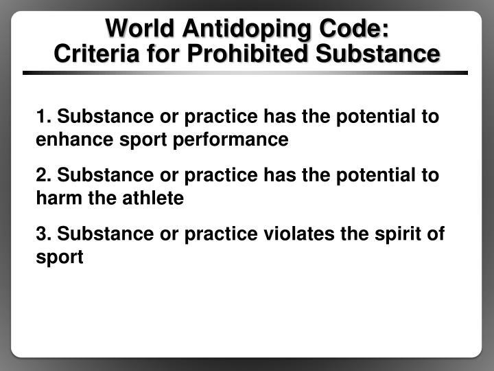 World Antidoping Code: