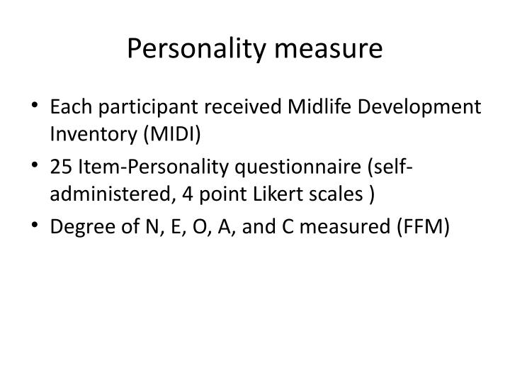 Personality measure