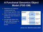 a functional genomics object model fge om