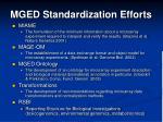 mged standardization efforts