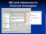 mo and references to external ontologies1