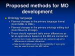 proposed methods for mo development1