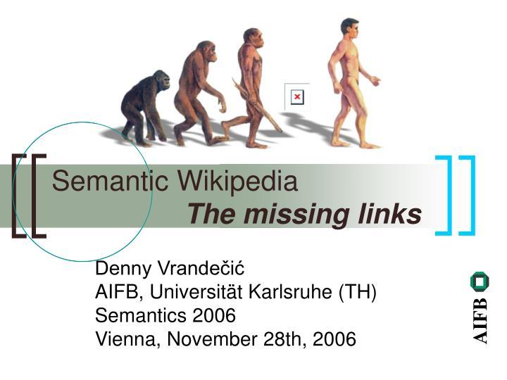 denny vrande i aifb universit t karlsruhe th semantics 2006 vienna november 28th 2006 n.
