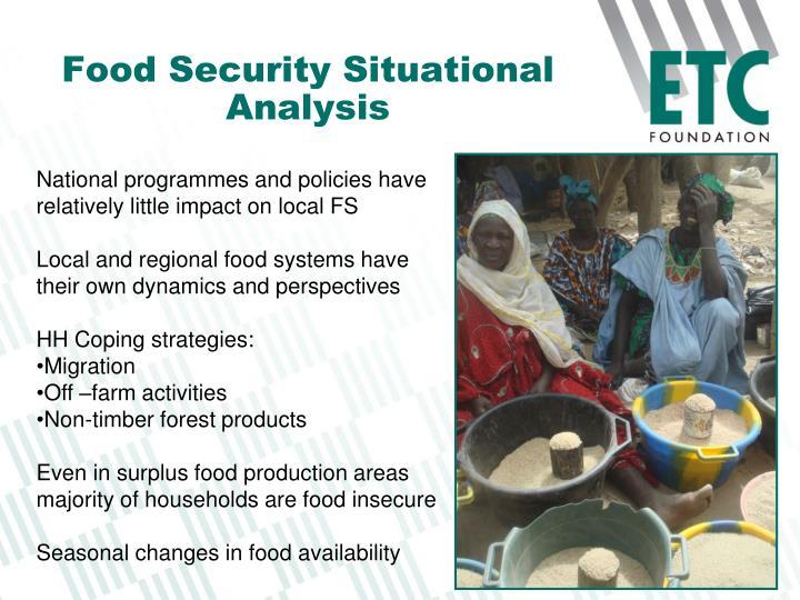 Food Security Situational Analysis